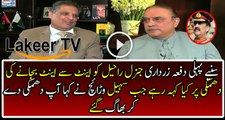 Asif Zardari is Giving Reply on the Threat Giving to Army