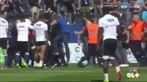 Fans poured onto the pitch and attacked Lyon players - Bastia vs. Lyon - April 16, 2017