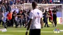 Les joueurs lyonnais agressés supporters à Bastia  - Bastia fans attack lyon players - 16.04.2017 ᴴᴰ