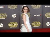 "Daisy Ridley ""Star Wars The Force Awakens"" World Premiere"