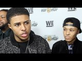 """Diggy Simmons & Russell Simmons II interview """"Growing Up Hip Hop"""" Premiere in NYC"""