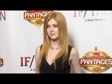 Katherine McNamara IF/THEN Los Angeles Premiere Red Carpet at Hollywood Pantages