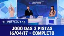 Programa Silvio Santos - Jogo das 3 Pistas - 16.04.17 - Completo