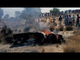 MiG-21 fighter aircraft crashes in Barmer, pilot ejects safely   Oneindia News