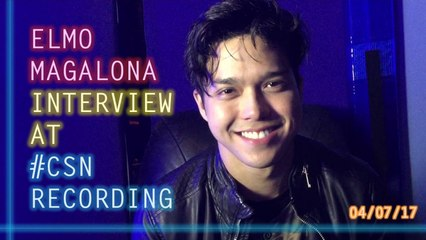 Elmo Magalona - Interview at #CSN Recording (04/07/17)