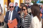 Preysler y Vargas Llosa, expectación en los toros
