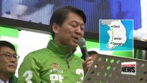 Ahn kicks off election campaign in political base of Jeolla-do Province