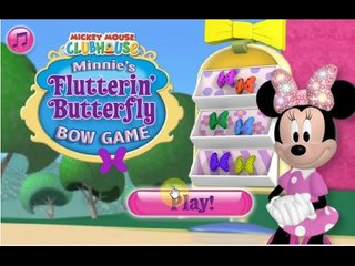 Mickey Mouse Games |  Minnie's flutterin butterfly bow game play