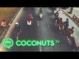Songkran Showboating | Dek Wan Takes Over Bangkok Highway | Coconuts TV