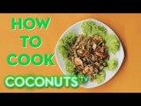 How To Cook: Stir Fried Sen Yai (Big Noodles) with Shrimp and Vegetables | Coconuts TV