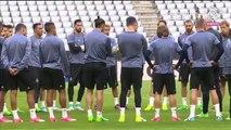 Live training at the Allianz Arena/Entrenamiento en el Allianz...