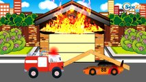 Emergency Vehicles - The Red Fire Truck Responding in the City - Cars & Trucks Cartoons for Children
