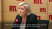 """Marine Le Pen souhaite """"expulser l'intégralité des fichés S étrangers pour lien avec le djihadisme"""""""
