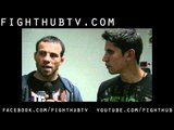 Jens Pulver war on the main land post fight interview