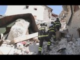 Castelluccio di Norcia (PG) - Terremoto, recupero beni in un ristorante (18.04.17)