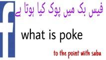 What Is Poke and how to send a Poke at Facebook   fb man poke kya ha