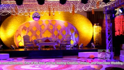 Mehndi DeSom Half Moon Stage by A2z events solutions, name of true events planners in Pakistan