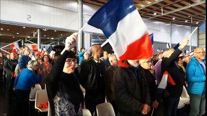 La Marseillaise au meeting de Fillon à Lille
