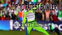 TOP 10 fastest bowlers in cricket history (Shoaib Akhtar, Dale Steyn, Brett Lee, Shaun tait....)