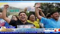 Asciende a 146 los presos políticos en Venezuela tras protestas antigubernamentales de abril, según Foro Penal