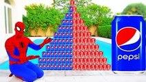 CRAZY COCA COLA PEPSI CHALLENGE! Movie Kids Toys w/ Spiderman, Hulk & Joker Family FUN in