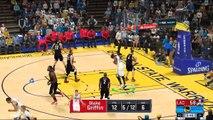 NBA 2K17 Stephen Curry,Kevin Durant & Klay Thompson Highlights vs