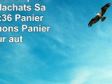 Wilpo Panier de picnic Panier dachats Saule 43x29x36 Panier à champignons Paniers pour