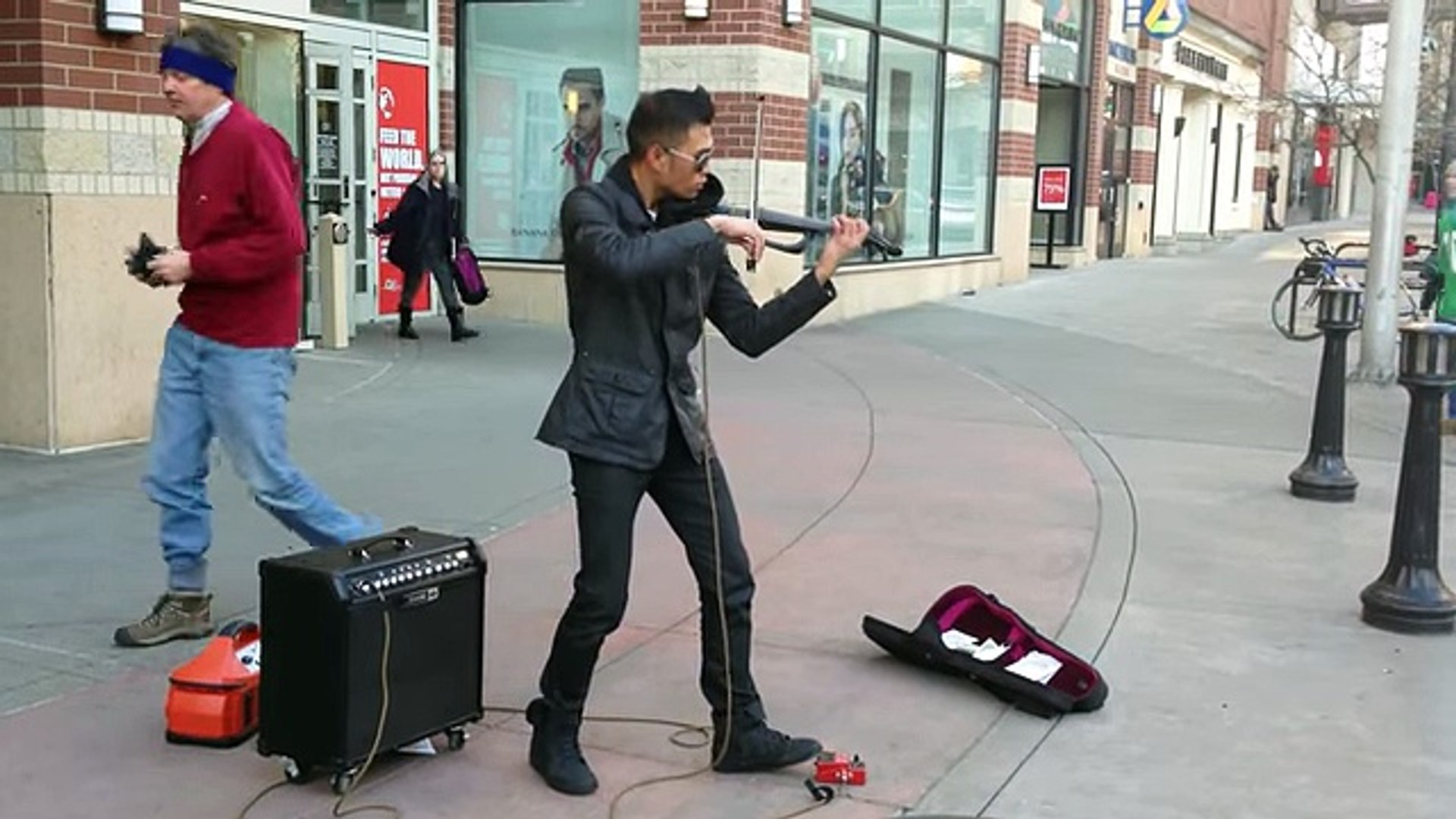 AMAZING Street musician! (Epic Violinist Music Video)