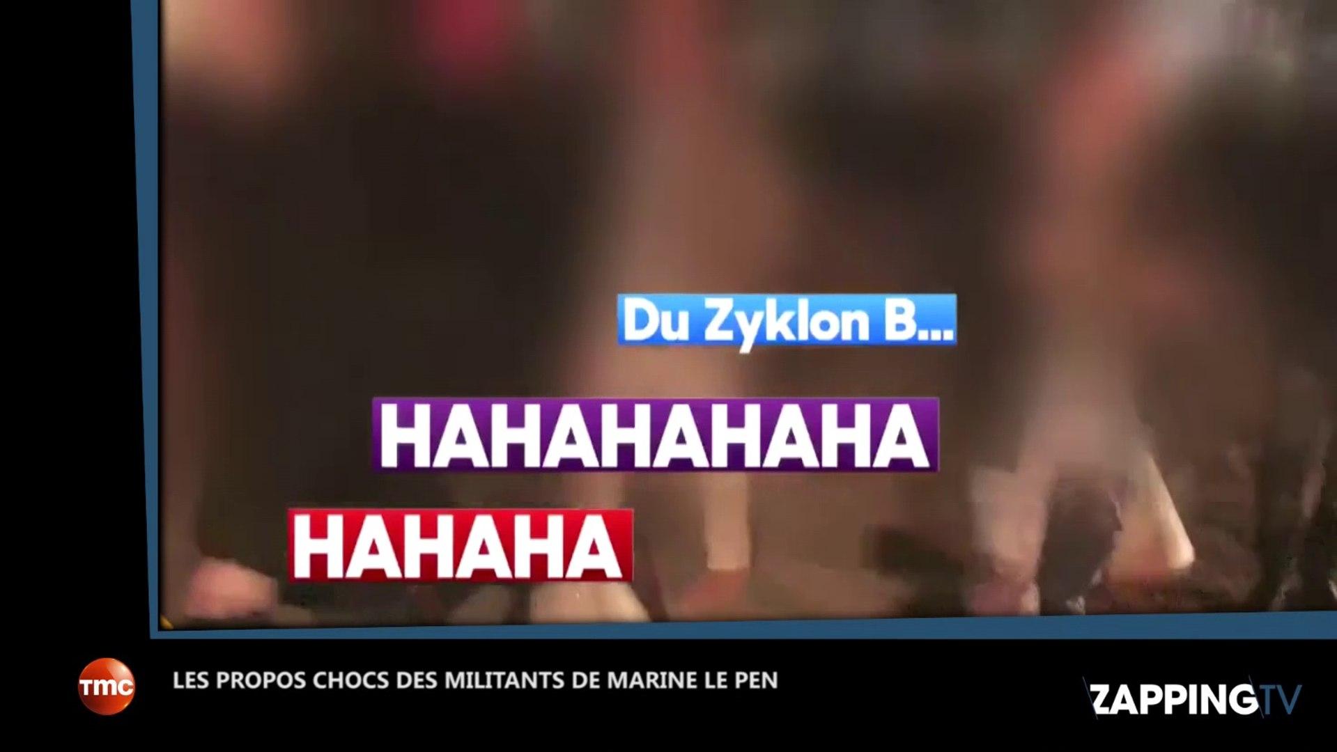 Marine Le Pen : les propos chocs de ses militants qui évoquent le Zyklon B à son meeting (vidéo)