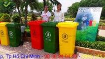 Thùng rác công cộng 240 lít,thùng rác 240 lít, thùng rác 240l, thung rác công nghiệp 240 lít - thùng rác Việt Nhất Nghệ
