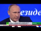Democrats losing on all fronts, looking for scapegoats – Putin on US elections