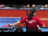 Table Tennis - CHN vs SRB - Women's Cl 4-5 Semifinal 1 M1 - London 2012 Paralympic Games.mp4