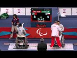 Wheelchair Fencing - CHN vs POL - Men's Ind. Sabre - Cat. A Semifinal - London 2012 Paralympic Games