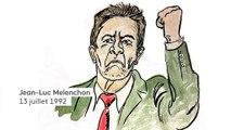 Jean-Luc Mélenchon : le portrait du candidat en dessins