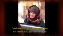 """ISIS or FSA or Some Hypocritical So Called """"MUSLIM"""" Vs A True MUSLIMA Wise Old Lady"""