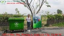 thùng rác 660 lít, thùng rác 660l,thùng rác công cộng 660 lít, thùng rác công nghiệp 660 lít - Thùng rác Việt Nhất Nghệ