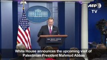 White House annouces visit of Palestinian leader Abbas