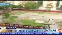 Fuertes imágenes en Venezuela por lanzamiento de gases lacrimógenos de la Guardia Nacional Bolivariana contra manifestan