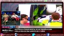 Muere una adolescente por el ataque de un tiburón delante de su familia-Más Que Noticias-Video