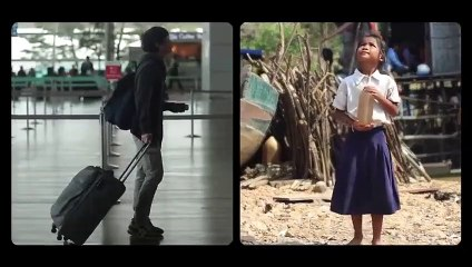 Fate of difference between two children rich and poor