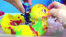 PJ MASKS Tub Bath T er Paint Soap Colors, Giant Rubber Duck Superhero IRL Toy Surp
