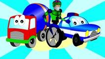Learn Color Cartoons for Children_ Coloured Cars [聪明的孩子创建具有彩色形状] ABC 123