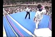 karate トーワ杯準決勝 佐竹雅昭vs阿部健一