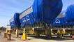 Chargement délicat d'un moteur Man diesel de 320 tonnes