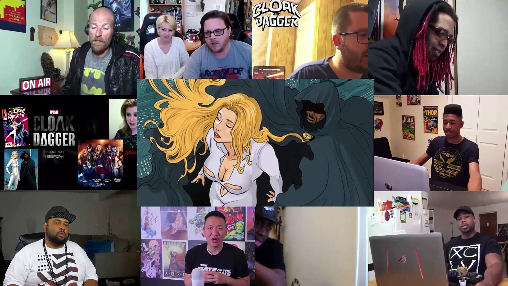 Cloak and Dagger - Marvel - Official Trailer - Reaction Mashup, Cloak and Dagger - Marvel - Official