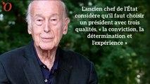 Présidentielle : sans le nommer, Valéry Giscard d'Estaing s'engage pour François Fillon