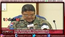 COE mantiene 16 provincias en alertas verde y amarilla-Noticias Ahora-Video
