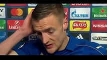 Leicester 1 1 Atletic Madrid 1 2 Jamie Vardy Post Match Interview