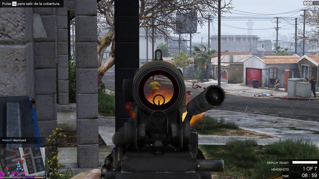 GTA V - PMC vs Vagos Shootout (M249 SAW showcase - Gang War mod) 1440p PC  Gameplay