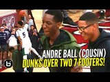 Andre Ball DUNKS OVER Shareef O'neal & Big O at RMHI Dunk Contest! Ball Brothers' Cousin!